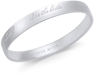 Kate Spade Silver-Tone Engraved Bride Idiom Bracelet