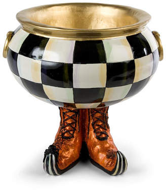 Mackenzie Childs MacKenzie-Childs Courtly Check Cauldron Halloween Candy Bowl