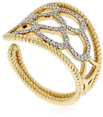 Turtle Gold Ring W/ Diamonds