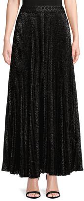 Haute Hippie Pleated Maxi Skirt