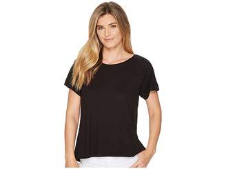 Lilla P Short Sleeve Pleat Back Women's Clothing