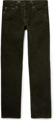 AG Jeans Everett Slim-Fit Cotton-Blend Corduroy Trousers - Men - Army green