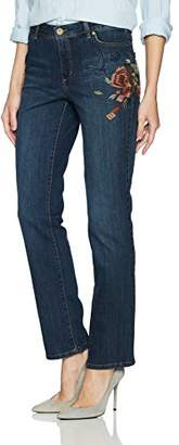 Bandolino Women's Millie Curvy Slim Straight 5 Pocket Jean