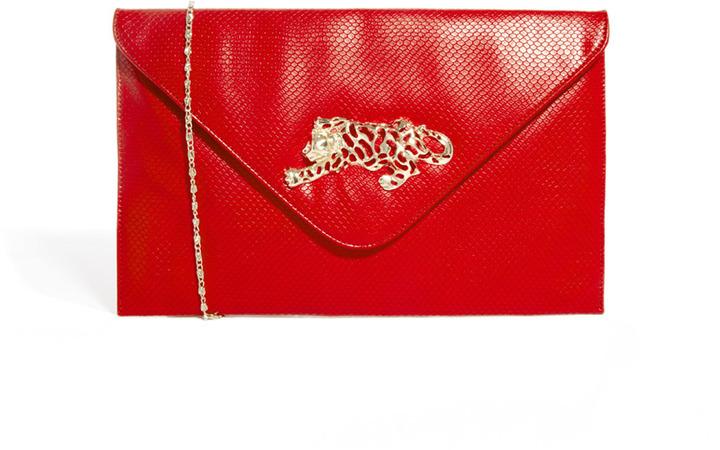 Liquorish Tiger Clutch Bag