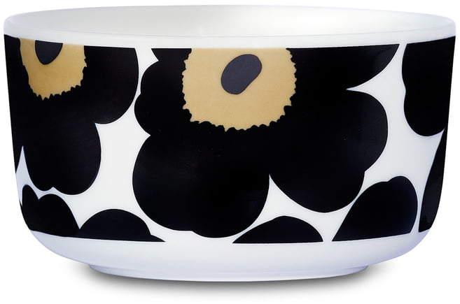 Oiva Unikko Schale 500 ml, weiß / schwarz