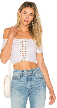 by the way. Cori Lace Up Crop Top