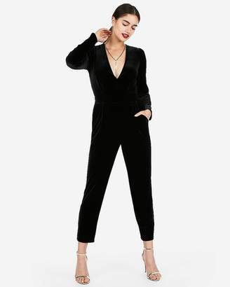 Express Long Sleeve Velvet Jumpsuit
