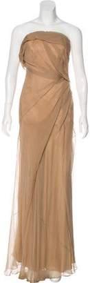 Donna Karan Strapless Silk Gown
