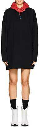 "Marcelo Burlon County of Milan Women's ""Cupido"" Cotton Fleece Sweatshirt Dress"