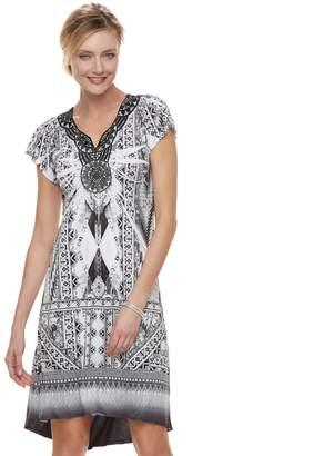 Apt. 9 Women's Medallion High-Low Shift Dress