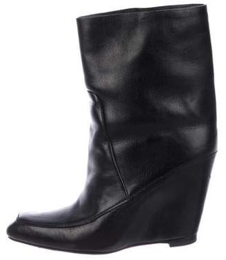 Alexander Wang Wedge Leather Ankle Boots