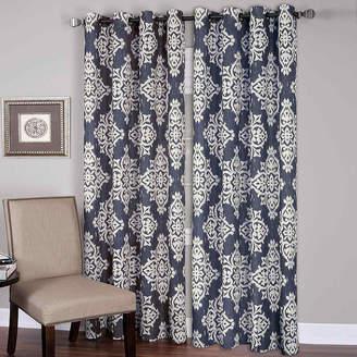 Elrene Medina Ikat Grommet-Top Curtain Panel