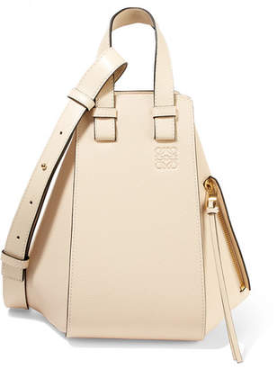 Loewe Hammock Small Textured-leather Shoulder Bag - Ivory