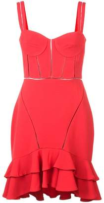 Jonathan Simkhai ruffle-trim flared dress