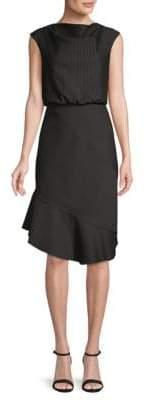 Pinstriped Blouson Dress