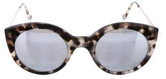 Illesteva Mirrored Tortoiseshell Sunglasses