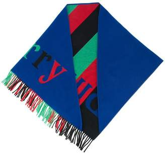 Burberry colour block knitted scarf