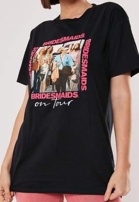 Missguided Black Bridesmaids Graphic T Shirt, Black