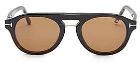 Tom Ford Women's 49MM Soft Round Tortoise Shell Optical Eyeglasses