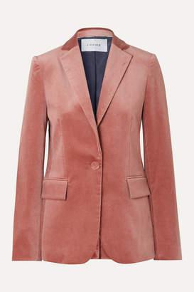 Frame Cotton-blend Velvet Blazer - Pink