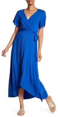 WEST KEI Hi-Lo Knit Wrap Dress