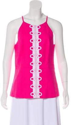 Lilly Pulitzer Embroidered Sleeveless Top