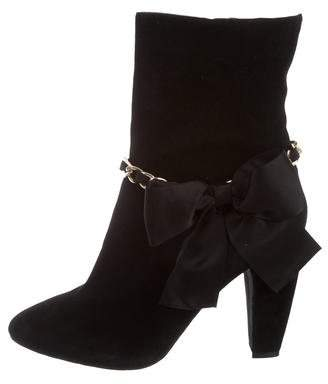 on hot sale Beverly Feldman Bow-Accented Mid-Calf Boots discount for sale s32MzS1VSX