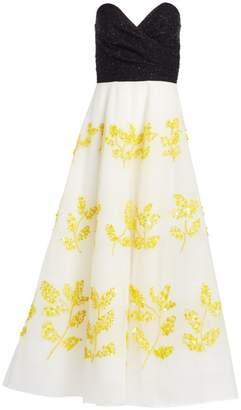 Joya Ahluwalia Sequin Bustier Gown