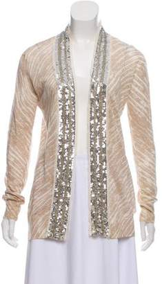 Tory Burch Linen Printed Cardigan