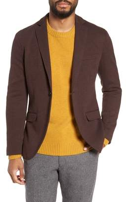 Selected Herrold Slim Fit Herringbone Jersey Blazer