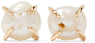 Melissa Joy Manning - 14-karat Gold Pearl Earrings - one size $250 thestylecure.com