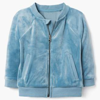 Gymboree Velour Bomber Jacket
