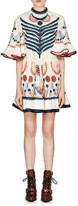 Chloé Women's Folkloric Silk Georgette Minidress