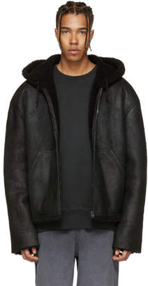 Yeezy Black Short Shearling Jacket