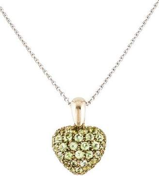 Chopard 18K Peridot Heart Pendant Necklace