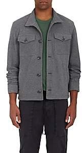 James Perse Men's Cotton Twill Trucker Jacket - Charcoal
