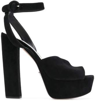 Prada platform ankle-strap sandals