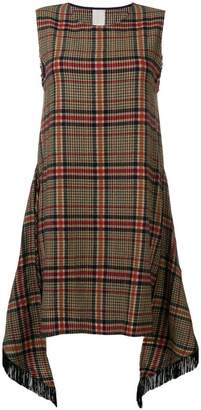 Pinko plaid mini dress