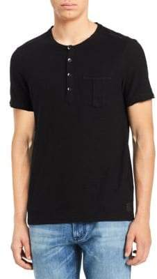 Calvin Klein Jeans Short-Sleeve Slub Cotton Henley