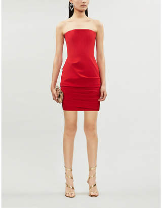 Alex Perry Kalen bandeau stretch-ponté bodycon mini dress