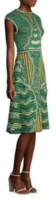 M Missoni Graphic Jacquard A-Line Dress