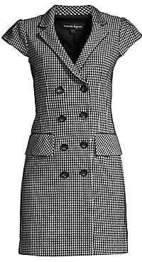 Nanette Lepore Women's Houndstooth Coat Dress