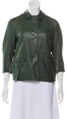 Marni Pebbled Leather Jacket