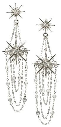 Belle Noel by Kim Kardashian Vintage Glamour Star Earrings