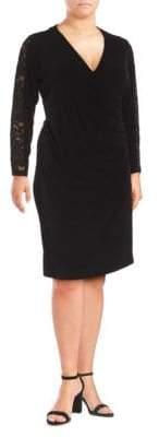 Lace V-Neck Shift Dress