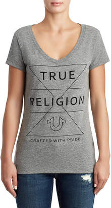 True Religion WOMENS CRYSTAL EMBELLISHED BRAND TEE