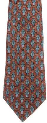 Hermes Ribbon Chain-Link Silk Tie