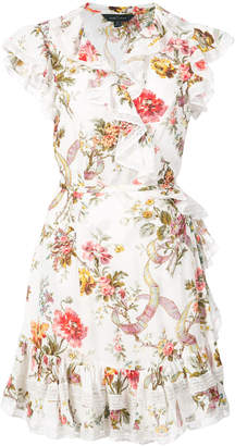 Needle & Thread floral print wrap dress