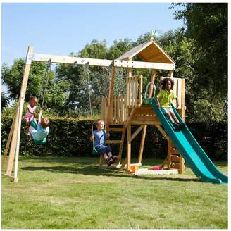 TP Kingswood Tower with Rapide Slide & Swing Set with Skyride & Deluxe Swing Seat