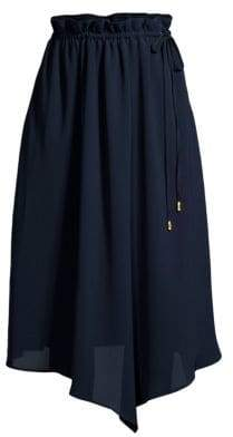 Donna Karan Asymmetric Draped Midi Skirt